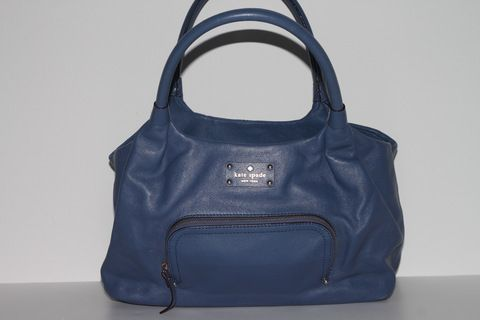 Kate Spade Blue Leather Satchel (www.Lenchylux.com)