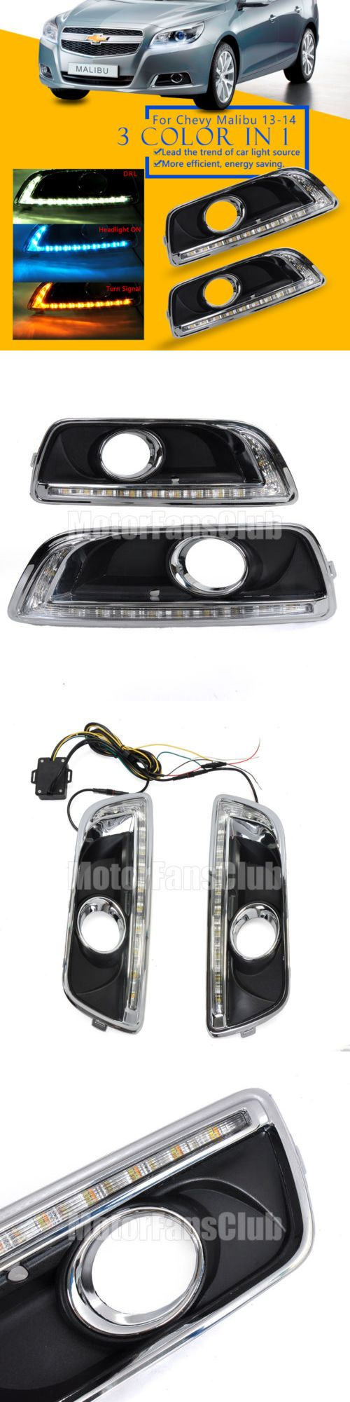 Motors Parts And Accessories: 3 Color Led Drl For Chevy Malibu 2013 2014 Daytime Running Light Fog Lamp W Turn -> BUY IT NOW ONLY: $67.19 on eBay!