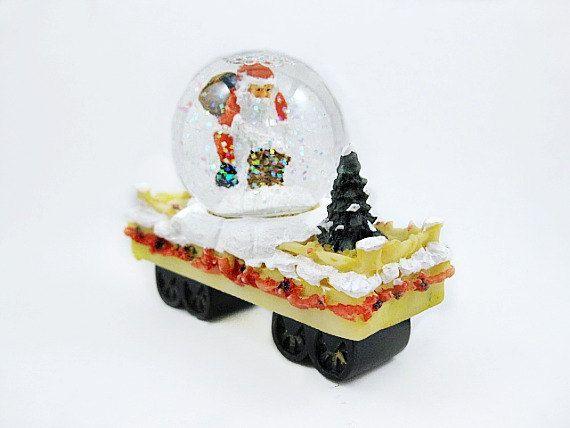 Miniature Christmas Snow Globe with Santa Claus