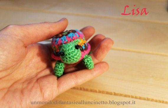 Tartaruga all'uncinetto di FantasiediLisa su Etsy