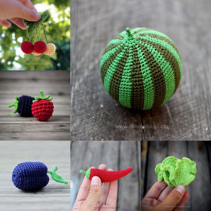 Knitting Patterns For Vegetables And Fruit : 1000+ images about OlinoHobby (my handmade) on Pinterest Vegetables, Play f...