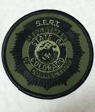 COLORADO DEPARTMENT OF CORRECTIONS SUBDUED SERT POLICE SHOULDER PATCH CO