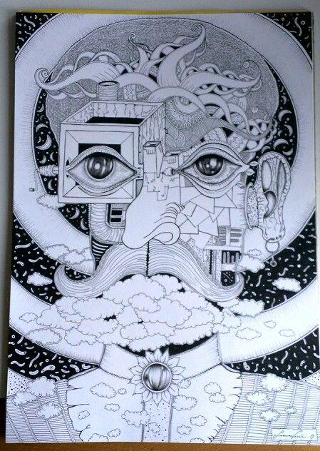 .E come Escher. .2013. Omaggio al maestro M.C. Escher. Nonche fonte di ispirazione per la mia arte