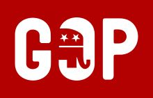 Republican Party (United States) - Grand Old Party - A previous GOP logo, incorporating the Republican elephant