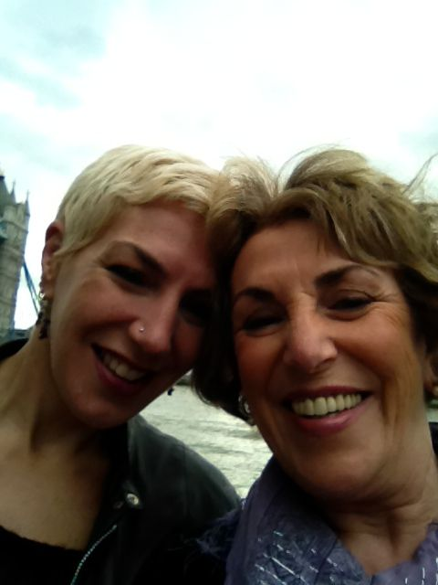 Edwina Currie's selfie with her daughter for #TellYourDaughter