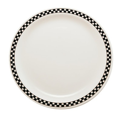 checkerboard dishes