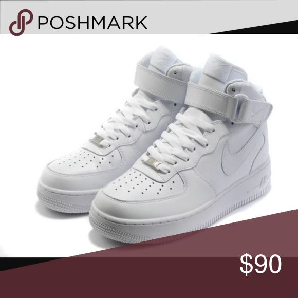All White High-Top Air Force Ones Only worn 3x Nike Shoes Sneakers