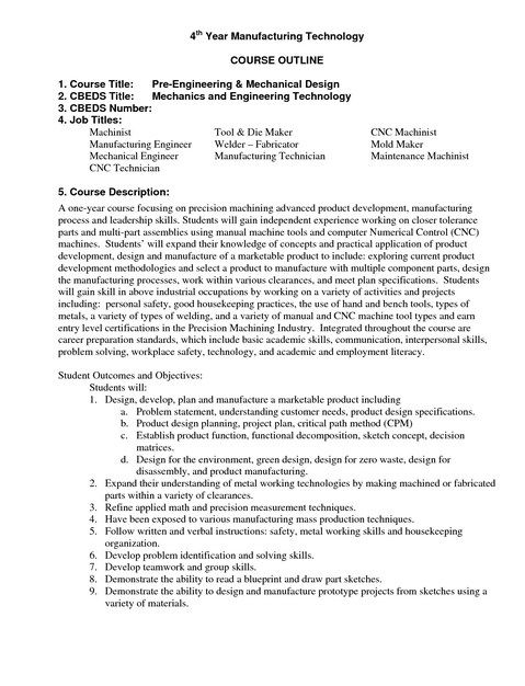 Resume Template For Machinist  Resume Template For Mac