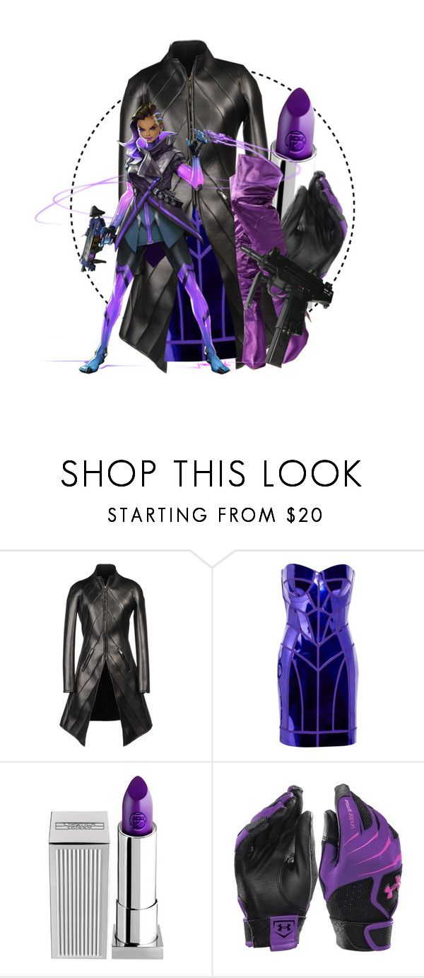 """Overwatch // Sombra"" by graywil ❤ liked on Polyvore featuring Gareth Pugh, Versus, Lipstick Queen and Under Armour"
