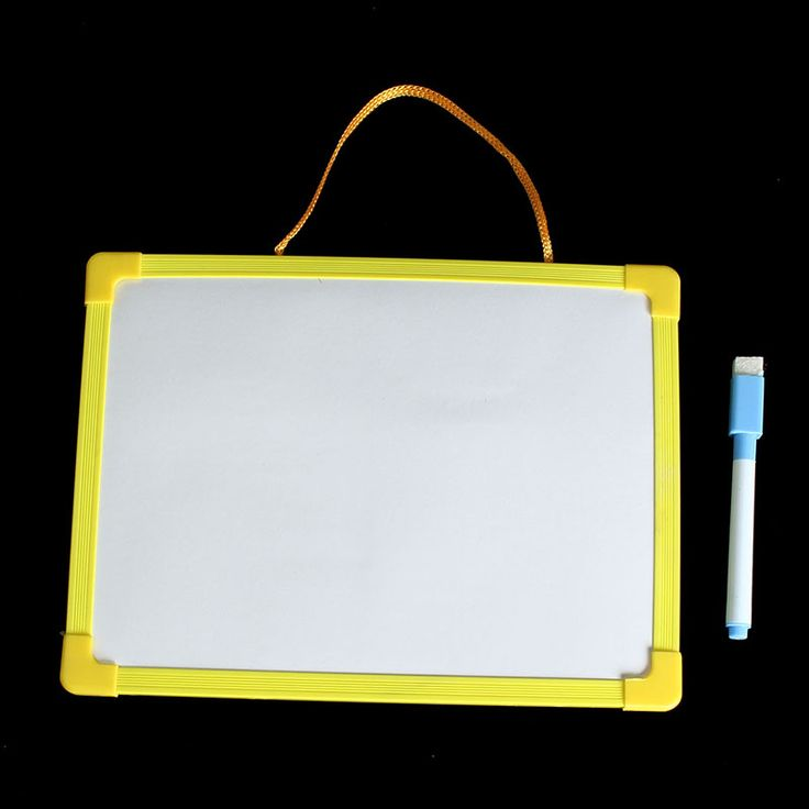 Whiteboard Dry Wipe Board Mini Drawing Whiteboard Small Hanging Board With Marker Pen for Childern Study Gifts Color Random