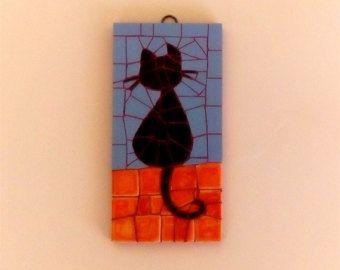 Mosaico gato Tee por ImperialTees en Etsy
