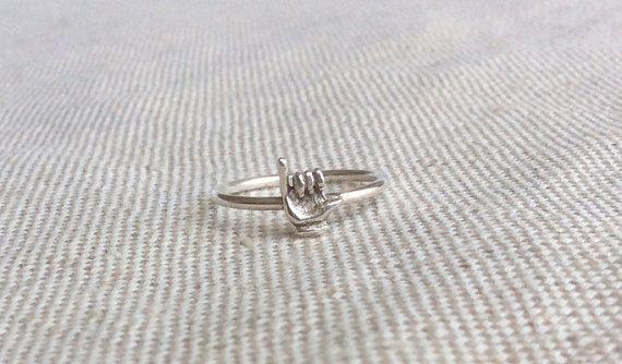 Hang Loose Ring Shaka Sign Ring Shaka Hang by SforSparkleShop