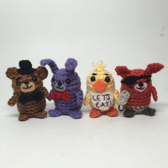 Five Nights at Freddy's FNAF Crochet by craftyiscoolcrochet