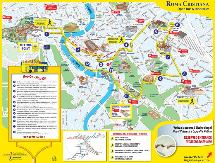 Map of Rome tourist attractions sightseeing & tourist tour : New Zone