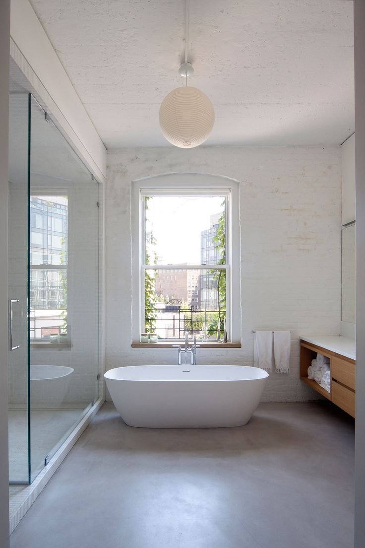 Web Photo Gallery Tribeca penthouse by SpaceArchitecture features pale material palette Small BathroomsInterior