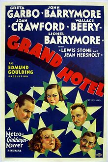 Grand Hotel (1931) Directed by Clarence Brown, starring Joan Crawford and Clark Gable, and released by Metro-Goldwyn-Mayer.