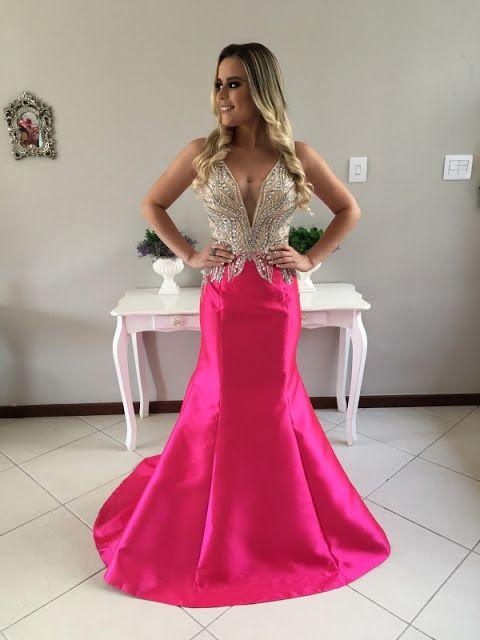 vestido de festa sereia  2017