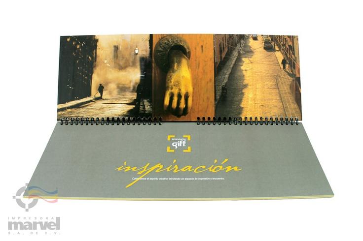 Impresion digital de Brochures y engargolado en pasta dura.