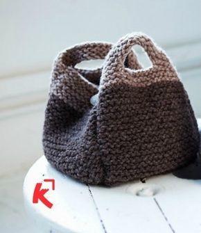Modèle à tricoter gratuit Sac rond Laine Katia coton Salsa
