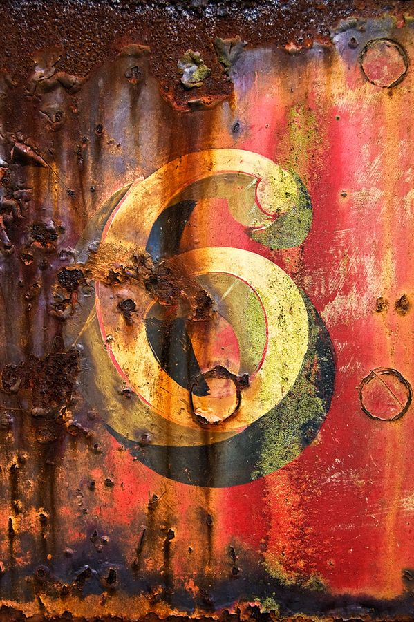 """""""Six"""" by Matt Sefton. Decaying paint on a steam locomotive in Tanfield Railway, County Durham, UK."""