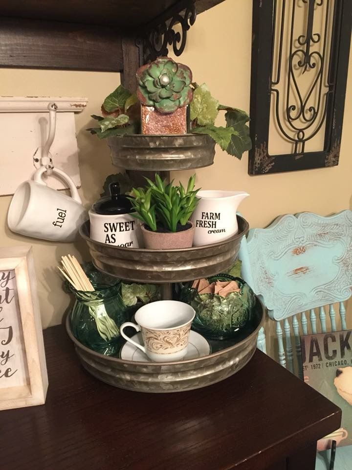 3 Tier Tray For Spring With Mini Succulent Pots Christmas Kitchen Decor Kitchen Design Decor Tiered Tray Decor