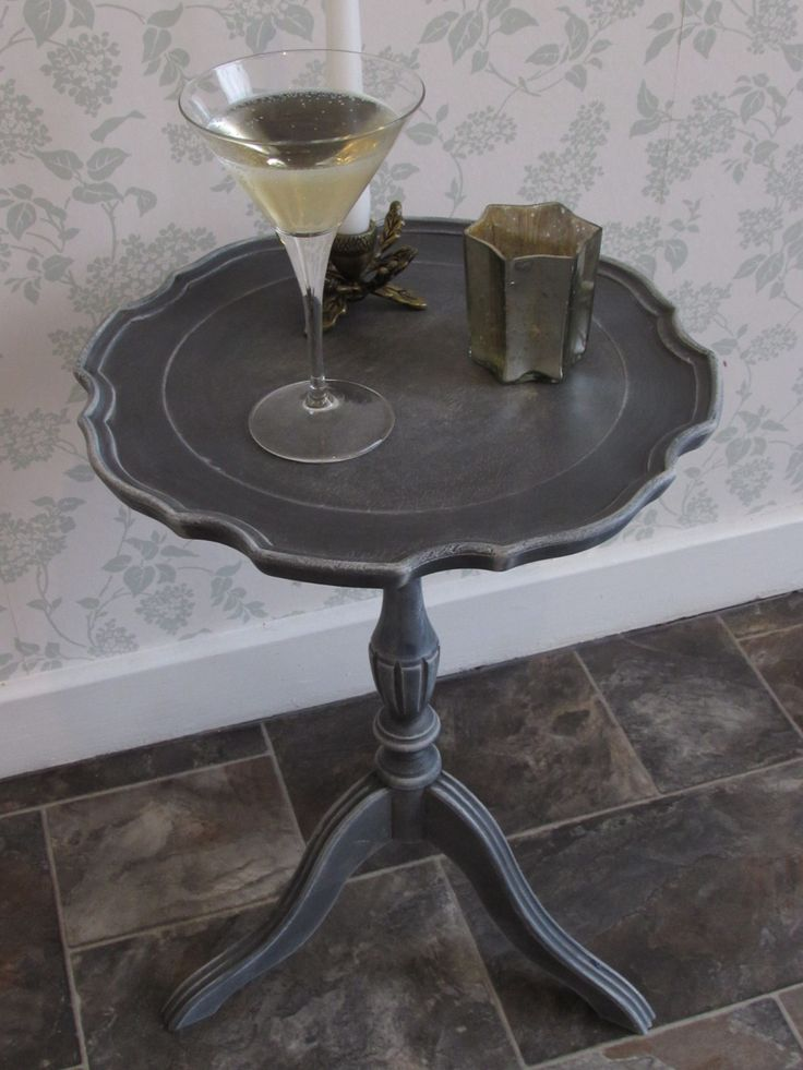 Side Table Painted With Annie Sloan Colours Graphite