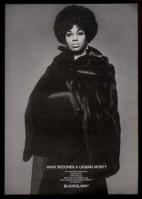blackglama ads | ... Leontyne Price photo Blackglama mink coat fur fashion vintage print ad
