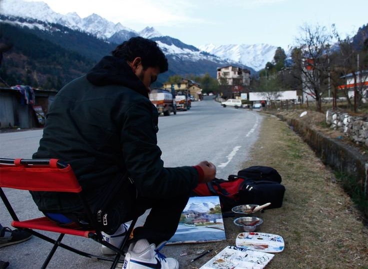 Amit dhane on the spot in manali