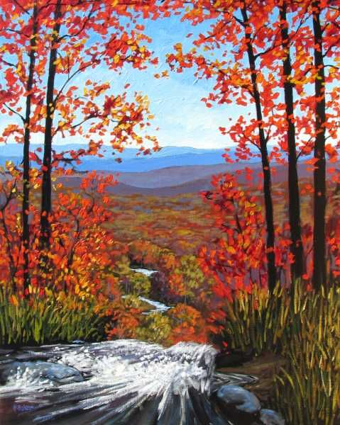 Amicalola Falls Painting (from the top)