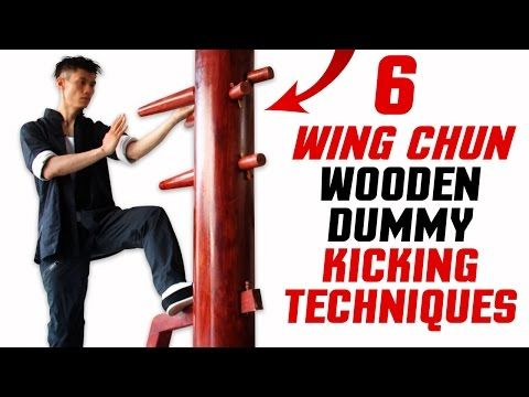 6 BEST Wooden Dummy Wing Chun Training - Kicking Techniques Form - YouTube