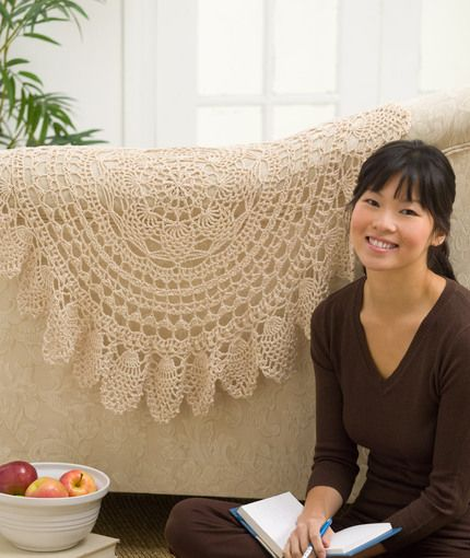 Lacy Accent Doily, could make a very nice rug ....