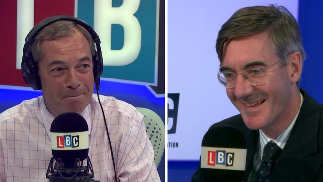 Jacob Rees-Mogg with Nigel Farage