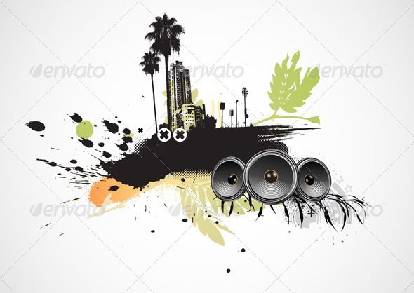 Urban Grunge Background #GraphicRiver Vector illustration of styled musical urban background. Zip file contains fully editable EPS8 vector file and high resolution RGB Jpeg image. Created: 14February13 GraphicsFilesIncluded: JPGImage #VectorEPS Layered: No MinimumAdobeCSVersion: CS Tags: abstract #art #audio #background #building #city #design #dirty #element #funky #graphic #grunge #illustration #life #modern #music #paint #party #retro #scene #shape #sign #silhouette #sound #speaker #spray…