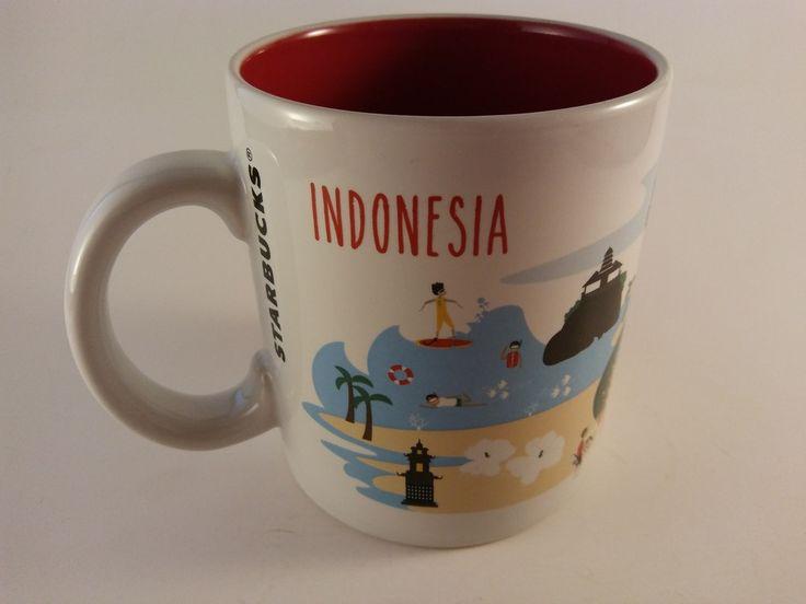 RARE! Starbucks UBUD INDONESIA Series Coffee Mug 16 FL OZ 2014 City FREE SHIP! #Starbucks