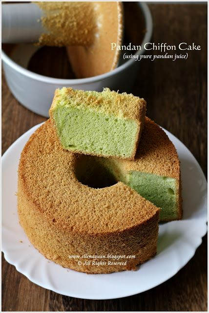 Cuisine Paradise | Singapore Food Blog | Recipes, Reviews And Travel: Pandan Chiffon Cake