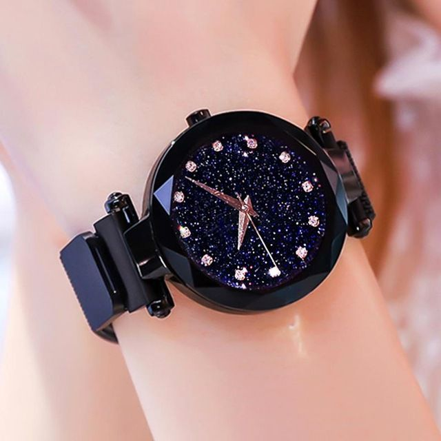 f435fef5f 2019 Hot Sale Starry Sky Watch Women's Luxury Magnetic Magnet Buckle Quartz  Wristwatch Geometric Surface Female Diamond Watches Review