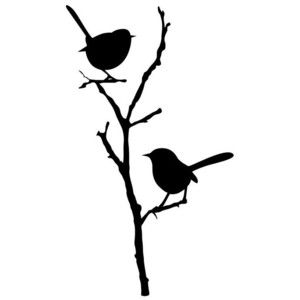 SALE - Willy wagtails - Window Decal - Listing # 9251
