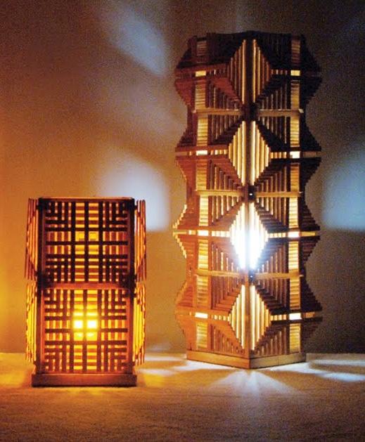Luminárias de palitos