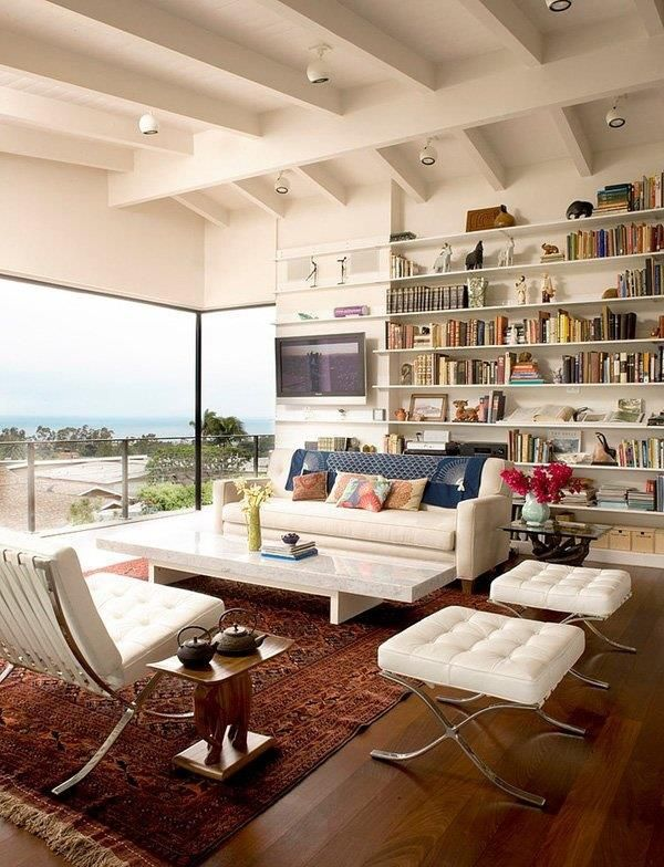 Living Rooms Design Chairs Interiors Shelves Libraries Design