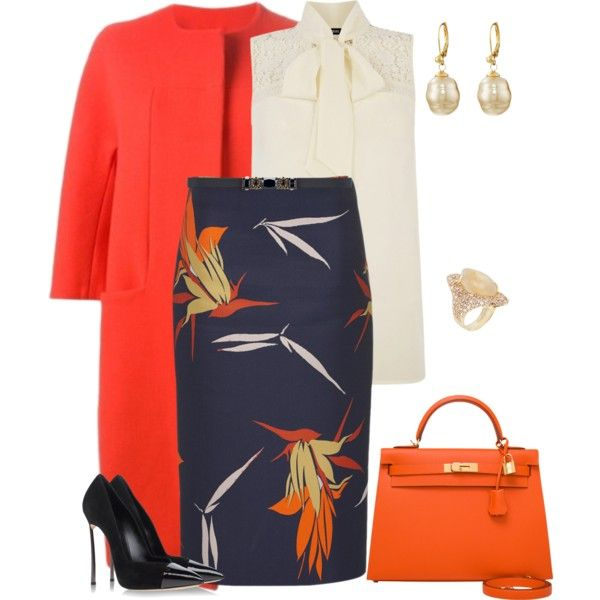 outfit  2469 by natalyag on Polyvore featuring polyvore, fashion, style, Oasis, Gianluca Capannolo, Marni, Casadei, Hermès, Majorica and Alexis Bittar
