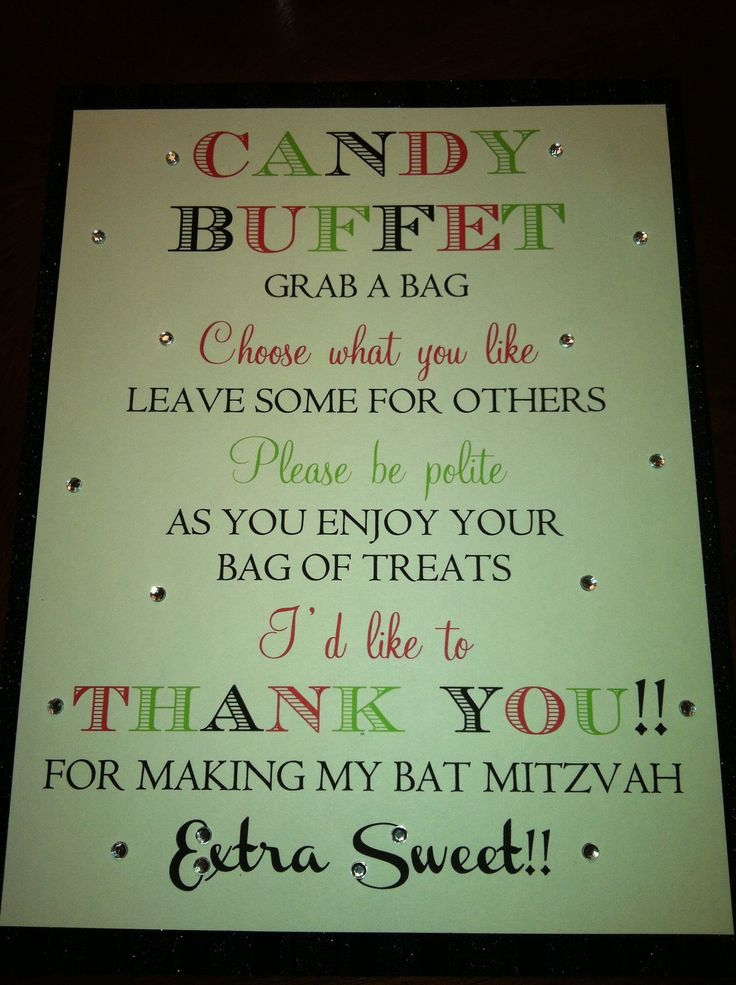 Candy Buffet Signs…except for a quince