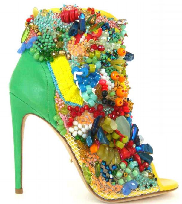 Now HERE is a shoe worth talking about. (By Jerome Rousseau)Design Shoes, Jerome Rousseau, Limited Editing, Shoes Collection, 2014 Collection, Beautiful Shoes, High Heels, Spring 2014, Bright Colors