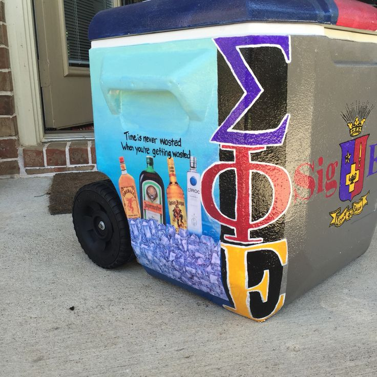 Sigma phi epsilon painted cooler cooler side