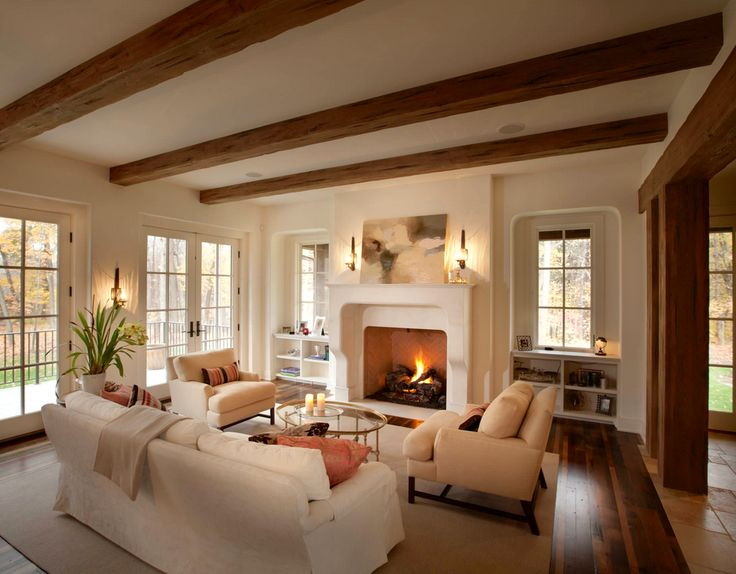 Traditional Family Room Exposed Beams Design, Pictures, Remodel, Decor And  Ideas Part 90