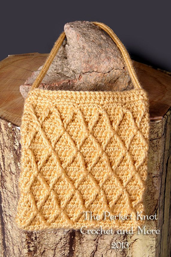 Crochet Stitch Honeycomb : honeycomb aprils pins evening purse lattice stitch pdf crochet crochet ...