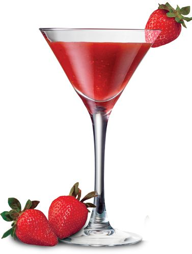 Straight Passionberry pour with strawberry garnish = classy.