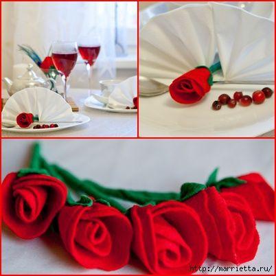 roza z filcu krok po kroku,Handmade-kursy ,wzory ,tutoriale: Kwiaty z filcu