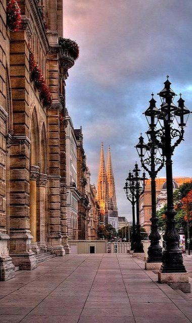 VIENNA ~ has long been an artistic center in Europe. St. Stephen's Cathedral's spires are seen in the distance.