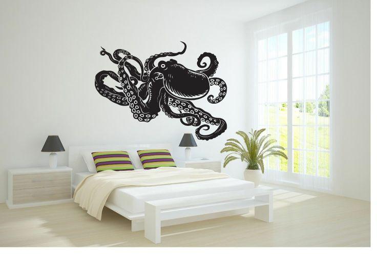 Wall Vinyl Sticker Decals Mural Art Decor Design Octopus Sea Fish Ocean 355   eBay
