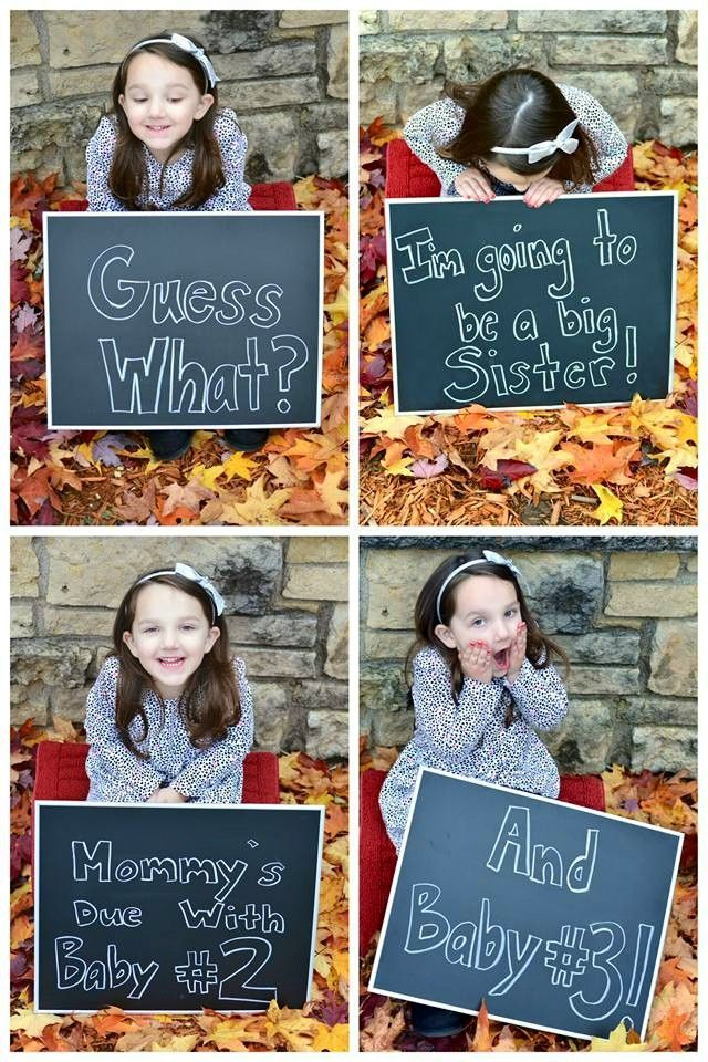 Twin baby pregnancy announcement! (Fall / Autumn baby announcement)